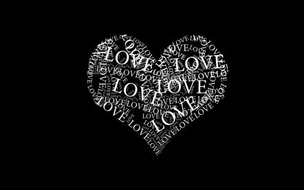 love-heart-typography