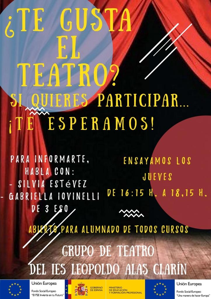 Cartel Teatro 2020